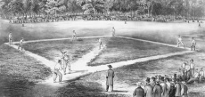 The American national game of base ball, by Currier and Ives, 1866